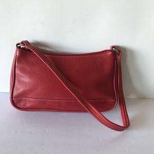 Tignanello Red Leather Small Shoulder Bag Purse